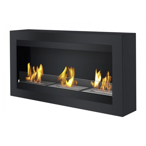Magnum Black Bio Ethanol Wall Mount Fireplace