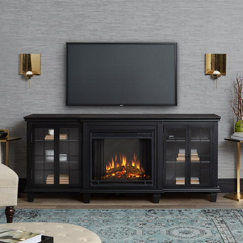 Marlowe Electric Fireplace in Black Finish - Ventless Fireplace Pros