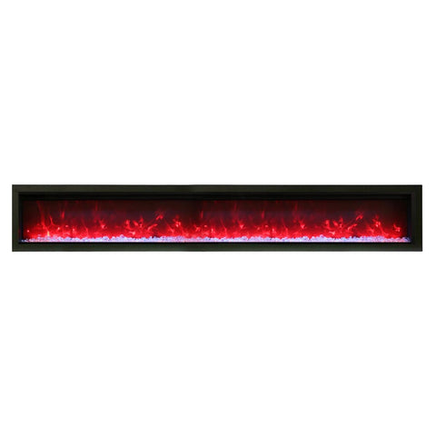 Amantii 100″ B Symmetry Electric Fireplace - Ventless Fireplace Pros