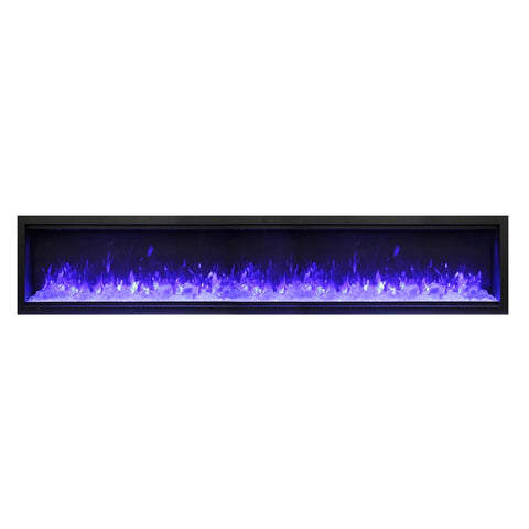 Amantii 100″ Extra Tall Symmetry Electric Fireplace - Ventless Fireplace Pros