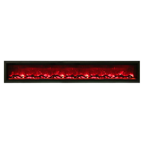 Amantii 100″ Symmetry Electric Fireplace - Ventless Fireplace Pros
