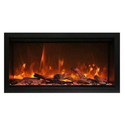 Amantii 34″ Extra Tall Symmetry Electric Fireplace - Ventless Fireplace Pros