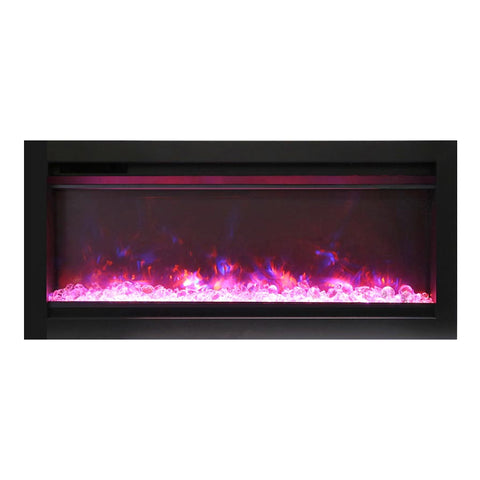 Amantii 34″ Symmetry Electric Fireplace - Ventless Fireplace Pros