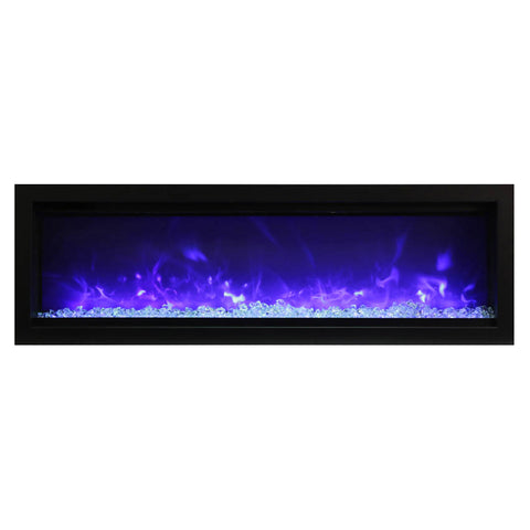 Amantii 50″ B Symmetry Electric Fireplace - Ventless Fireplace Pros