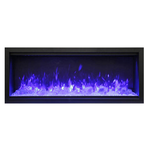 Amantii 50″ Extra Tall Symmetry Electric Fireplace - Ventless Fireplace Pros