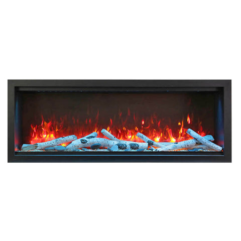 Amantii 60″ Extra Tall Symmetry Electric Fireplace - Ventless Fireplace Pros