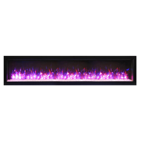 Amantii 74″ B Symmetry Electric Fireplace - Ventless Fireplace Pros