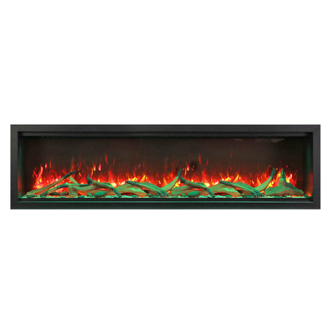 Amantii 74″ Extra Tall Symmetry Electric Fireplace - Ventless Fireplace Pros