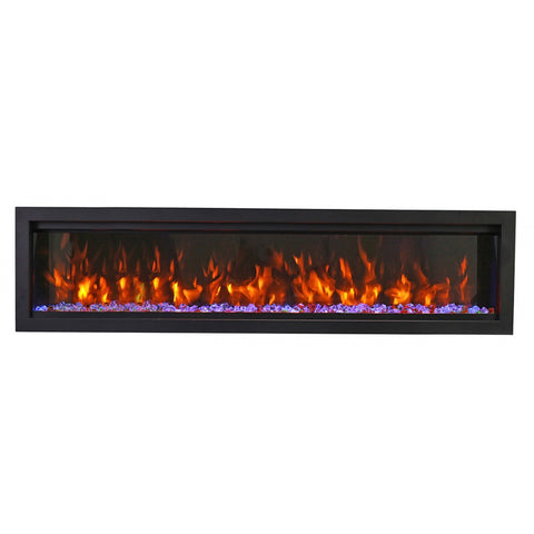 Amantii 74 BESPOKE Symmetry Electric Fireplace - Ventless Fireplace Pros