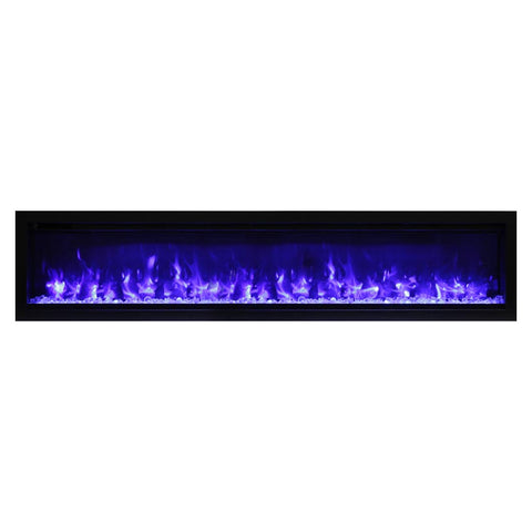 Amantii 74″ Symmetry Electric Fireplace - Ventless Fireplace Pros