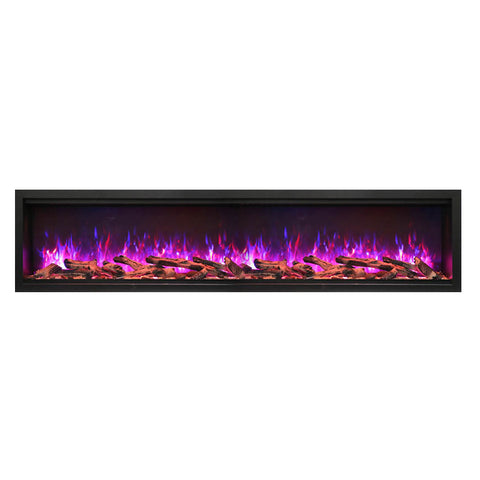 Amantii 88″ Extra Tall Symmetry Electric Fireplace - Ventless Fireplace Pros