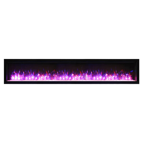 Amantii 88″ Symmetry Electric Fireplace - Ventless Fireplace Pros