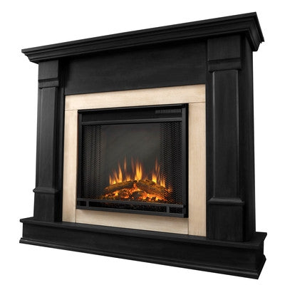 Silverton Electric Fireplace in Black Finish - Ventless Fireplace Pros