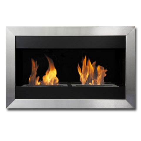 Bio Blaze Square Small II Bio-Ethanol Fireplace - Ventless Fireplace Pros