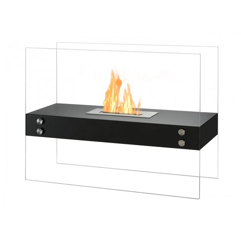 Vitrum H – Freestanding Ventless Ethanol Fireplace - Ventless Fireplace Pros