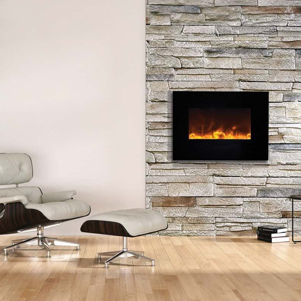 fireplace wall crystal p mounted recessed inch madison electric