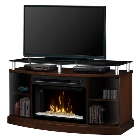 Dimplex Windham Media Electric Fireplace Console in Mocha with Acrylic Ice