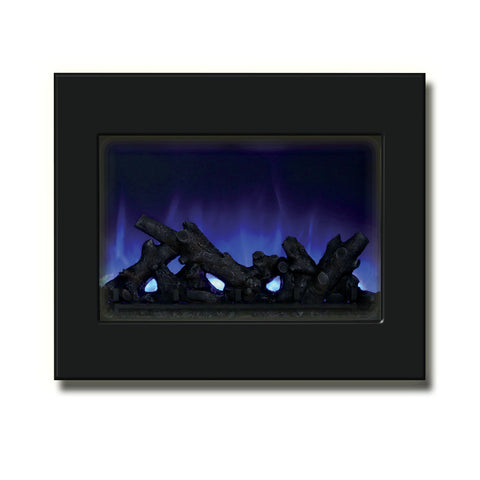 "Amantii 39"" Zero Clearance Electric Fireplace with Black Glass Surround - Ventless Fireplace Pros"