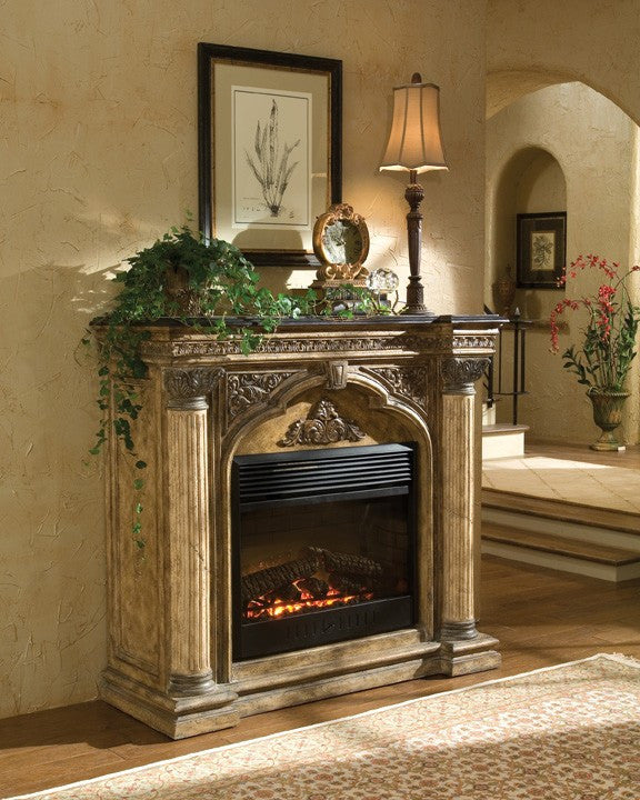 ambella arch electric fireplace mantel - Electric Fireplace With Mantel