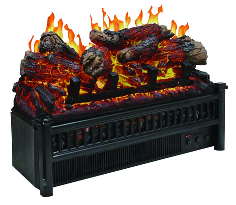 Electric Logs with Heater Fireplace Insert
