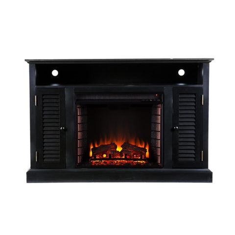 Antebellum Media Electric Fireplace - Black