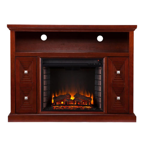 Creston Media Fireplace - Cherry