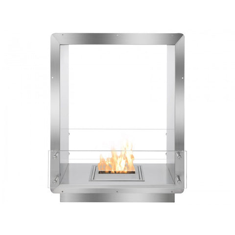 "Ignis 28"" Wide Double-Sided Ethanol Burning Firebox - Ventless Fireplace Pros"
