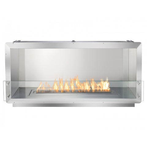 "Ignis 52"" Wide One-Sided Ethanol Burning Firebox - Ventless Fireplace Pros"
