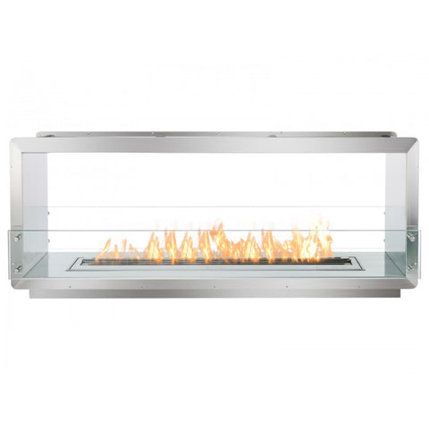 "Ignis 64.25"" Wide Double-Sided Ethanol Burning Firebox - Ventless Fireplace Pros"