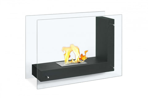 Vitrum L – Freestanding Ventless Ethanol Fireplace - Ventless Fireplace Pros