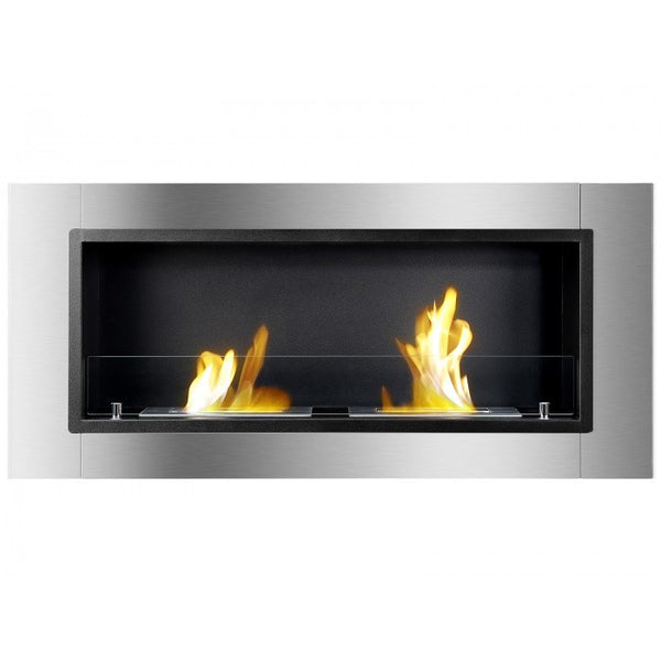 Lata Bio Ethanol Wall Mount Or Recessed Fireplace Ventless