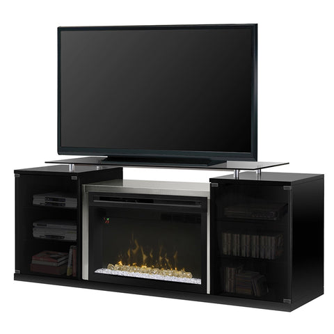 Dimplex Marana Electric Fireplace Media Console in Black with Acrylic Ice