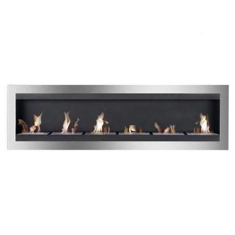 Maximum Bio Ethanol Wall Mount Recessed Fireplace - Ventless Fireplace Pros
