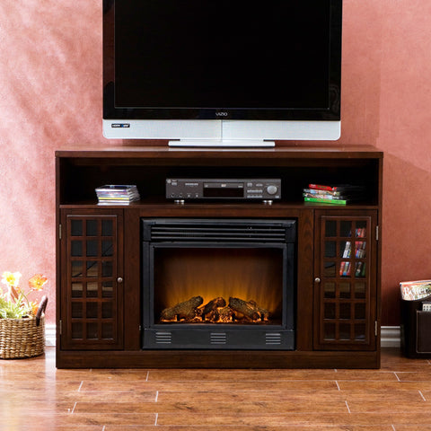 Holly & Martin™ Akita Media Electric Fireplace-Espresso