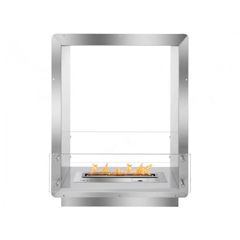 "Ignis 28"" Wide Double-Sided Ethanol Burning Smart Firebox - Ventless Fireplace Pros"