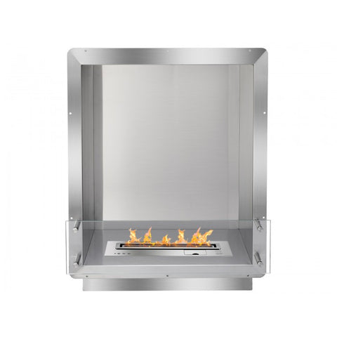 "Ignis 28"" Wide One-Sided Ethanol Burning Smart Firebox - Ethanol Fireplace Pros"