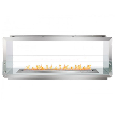 "Ignis 64.25"" Wide Double-Sided Ethanol Burning Smart Firebox - Ventless Fireplace Pros"