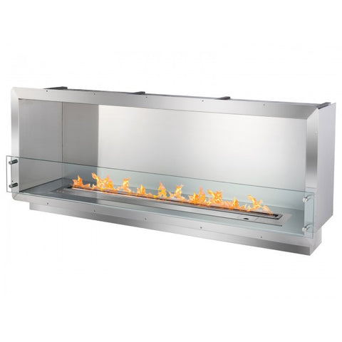 "Ignis 64.25"" Wide One-Sided Ethanol Burning Smart Firebox - Ventless Fireplace Pros"