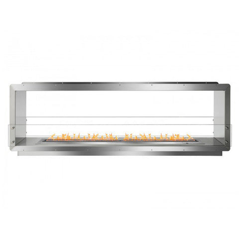 "Ignis 78.5"" Wide Double-Sided Ethanol Burning Smart Firebox"