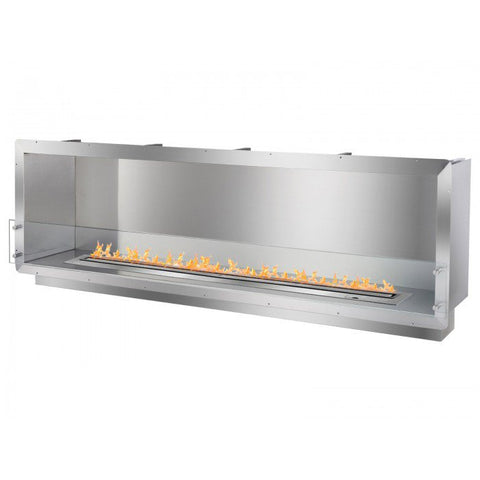 "Ignis 78.5"" Wide One-Sided Ethanol Burning Smart Firebox - Ventless Fireplace Pros"