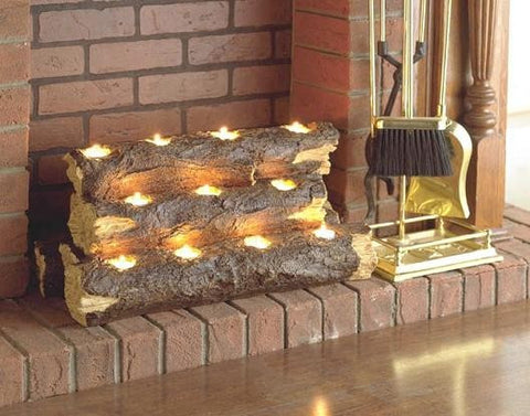 Holly & Martin™ Sierra Tealight Fireplace Log