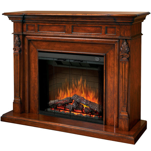 Dimplex Torchiere Electric Fireplace in Burnished Walnut