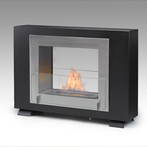 Eco-Feu Wellington 2-Sided Freestanding Biofuel Fireplace - Ventless Fireplace Pros
