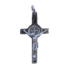 1 in. St. Benedict Crucifix, Nickel-Plated & Black Enamel