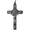 2 in. St. Benedict Crucifix, Nickel-Plated & White Enamel