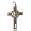 1 1/8 in. St. Benedict Crucifix, Pendant, Sterling Silver