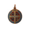 1 in. St. Benedict Medal, Color Enamel