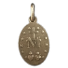 3/4 in. Miraculous Medal, Antique Silver