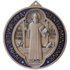 6 in. St. Benedict Wall Medal with blue enamel