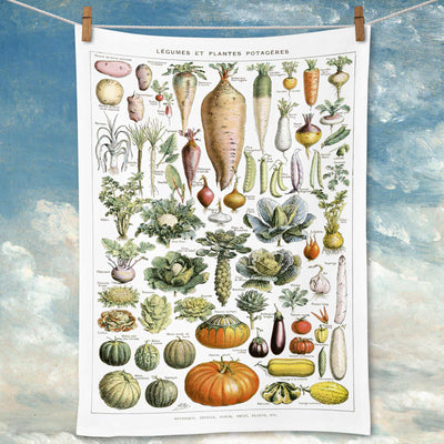 Legumes Linen Tea Towel